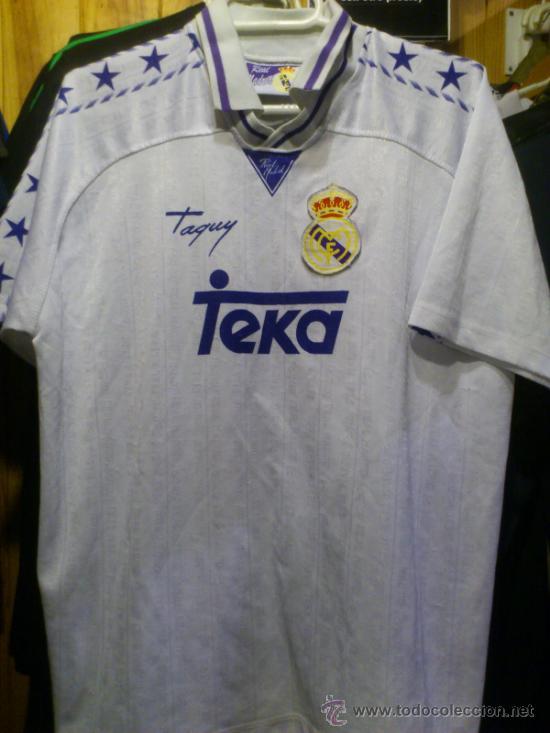 CAMISETA REAL MADRID TEKA TAQUY TALLA 16 - XS (Coleccionismo Deportivo - Ropa y Complementos - Camisetas de Fútbol)