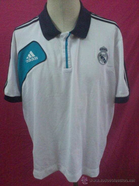 cf1df7084299d CAMISETA POLO FUTBOL ORIGINAL ADIDAS REAL MADRID OFICIAL. TALLA XL  (Coleccionismo Deportivo -