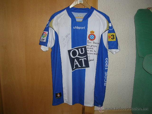 FUTBOL Camiseta Original R.C.D ESPAÑOL marca UHLSPORT Talla L Dorsal 18  Rufete ESPANYOL 5d9caf5ba1c0d
