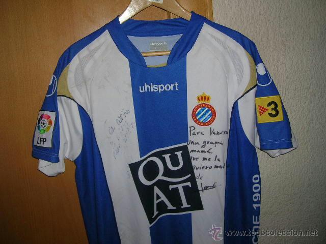 Coleccionismo deportivo  FUTBOL Camiseta Original R.C.D ESPAÑOL marca  UHLSPORT Talla L Dorsal 18 Rufete ESPANYOL 0b86f886fe78c