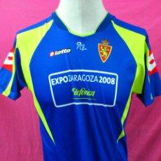 Coleccionismo deportivo: CAMISETA FUTBOL ORIGINAL LOTTO REAL ZARAGOZA. EXPO 2008 TALLA XL. Lote 40982909