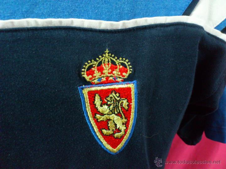 Coleccionismo deportivo: CAMISETA FUTBOL ORIGINAL LUANVI REAL ZARAGOZA. ENTRENAMIENTO. ENTRENO. PIKOLIN.... - Foto 2 - 40984030
