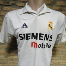 Coleccionismo deportivo: CAMISETA FUTBOL ORIGINAL ADIDAS REAL MADRID FIGO CENTENARIO 1902 2002 TALLA L. Lote 133113155
