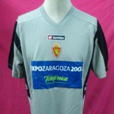 Coleccionismo deportivo: CAMISETA FUTBOL ORIGINAL LOTTO REAL ZARAGOZA EXPO 2008. TALLA XL. Lote 41407831