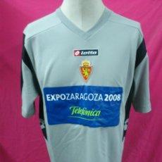 Coleccionismo deportivo: CAMISETA FUTBOL ORIGINAL LOTTO REAL ZARAGOZA EXPO 2008. TALLA XL (A). Lote 41412894
