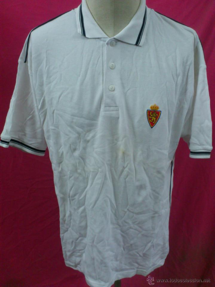 CAMISETA POLO NIKI FUTBOL ORIGINAL CEPAS REAL ZARAGOZA, 100% ALGODÓN TALLA XL (Coleccionismo Deportivo - Ropa y Complementos - Camisetas de Fútbol)