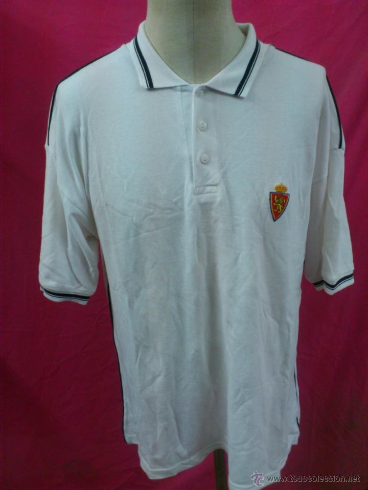 CAMISETA POLO NIKI FUTBOL ORIGINAL CEPAS REAL ZARAGOZA, 100% ALGODÓN TALLA XL(A) (Coleccionismo Deportivo - Ropa y Complementos - Camisetas de Fútbol)
