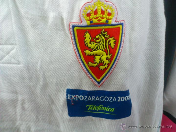 Coleccionismo deportivo: CAMISETA POLO NIKI ORIGINAL LOTTO REAL ZARAGOZA EXPO ZARAGOZA 2008. TALLA XL - Foto 2 - 41413403