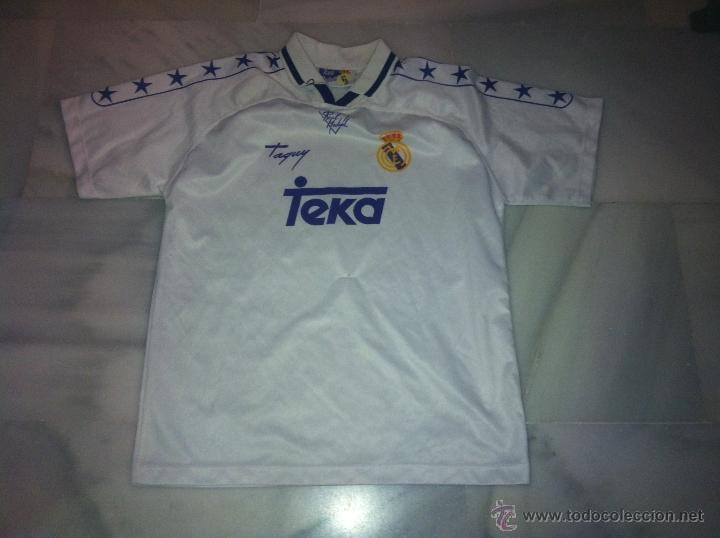 CAMISETA DE FUTBOL REAL MADRID TEKA TALLA M (Coleccionismo Deportivo - Ropa y Complementos - Camisetas de Fútbol)