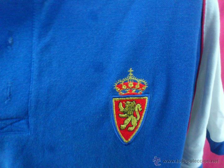 Coleccionismo deportivo: CAMISETA POLO NIKY ORIGINAL ADIDAS. 100% ALGODON. FUTBOL. REAL ZARAGOZA. ENTRENAMIENTO. TALLA L - Foto 2 - 42505355