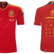 Coleccionismo deportivo: CAMISETA ESPAÑA OFICIAL ADIDAS CONMEMORATIVA CAMPEONES EUROPA 2012 EURO. Lote 42613049