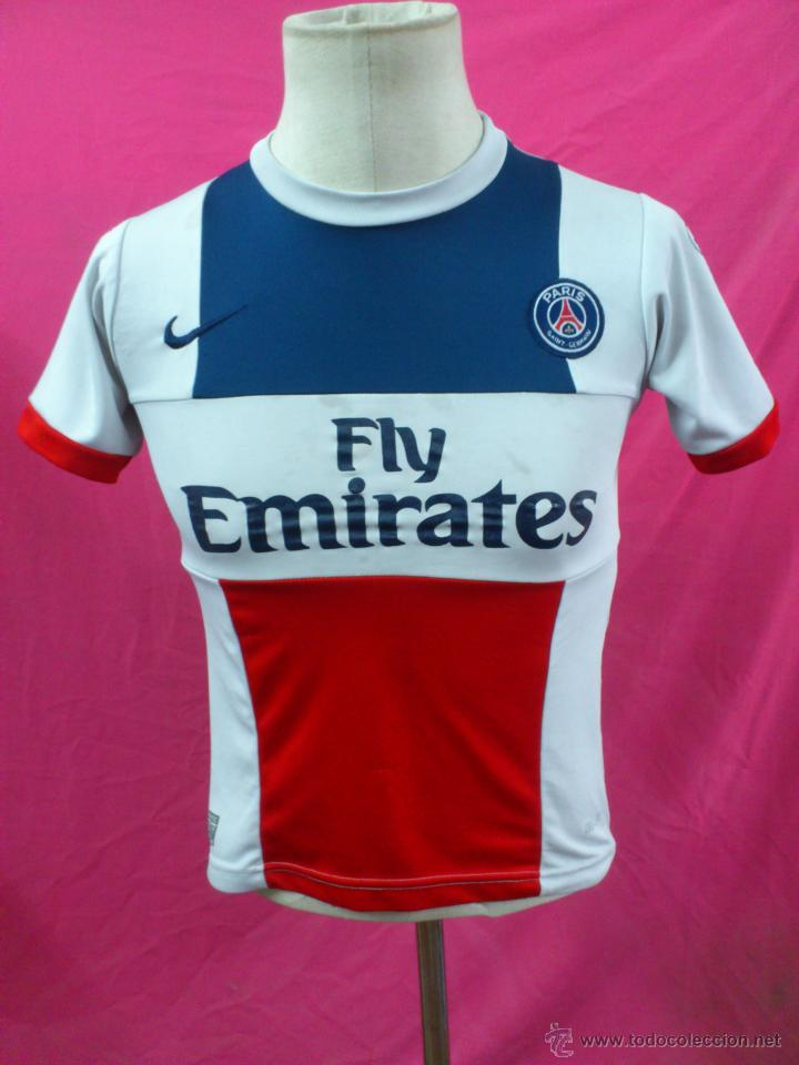 98e7fb3f52819 CAMISETA FUTBOL ORIGINAL NIKE PARIS SAINT-GERMAIN FLY EMIRATES IBRAHIMOVIC. TALLA  16 (Coleccionismo
