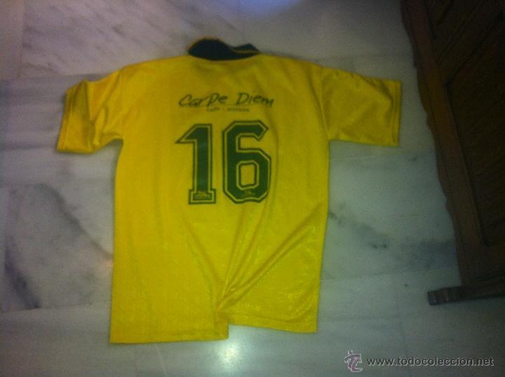 Coleccionismo deportivo: CAMISETA DE FUTBOL DE BRASIL UMBRO CON PATROCINADOR TALLA M - Foto 2 - 43384768