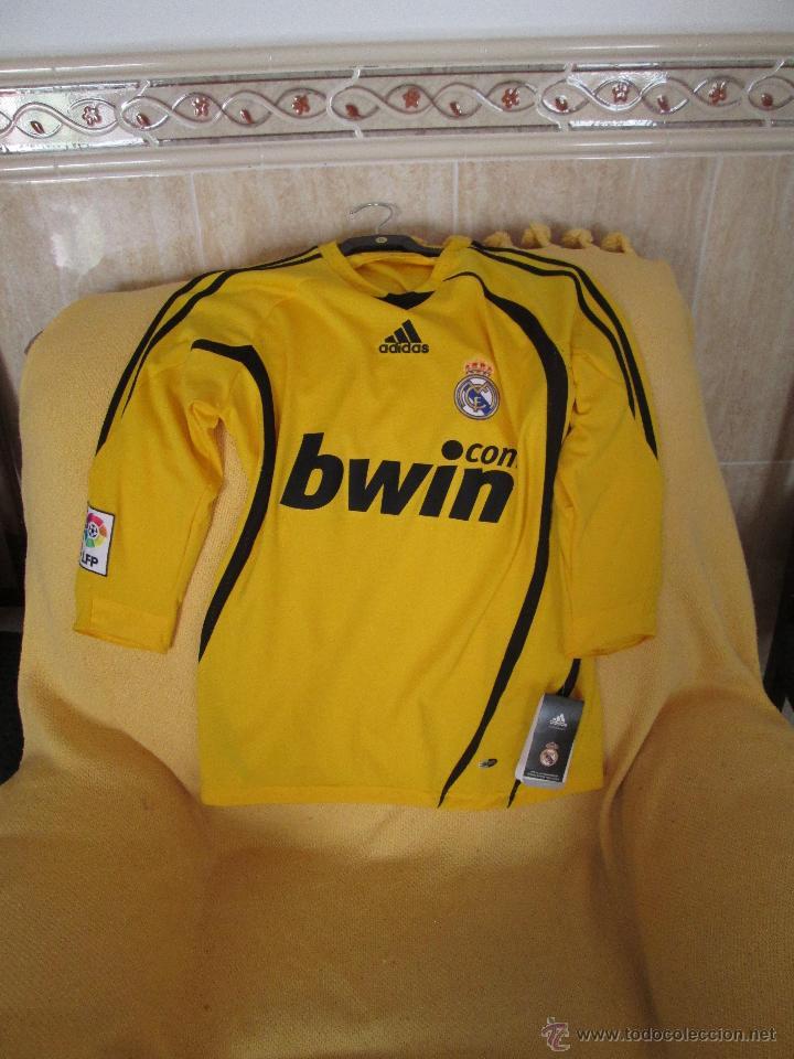 CAMISETA ADIDAS REAL MADRID PORTERO TEMPORADA 2008-2009 (Coleccionismo  Deportivo - Ropa y Complementos da8e5b40332c8
