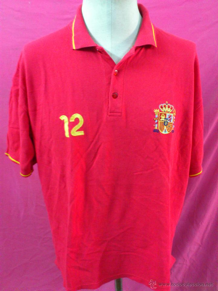CAMISETA POLO NIKI NIKY FUTBOL ORIGINAL ADIDAS ESPAÑA SELECCION ESPAÑOLA TALLA L (Coleccionismo Deportivo - Ropa y Complementos - Camisetas de Fútbol)