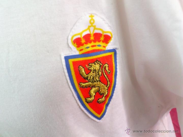 Coleccionismo deportivo: CAMISETA FUTBOL ORIGINAL ADIDAS REAL ZARAGOZA . AÑO 1992. TIPO ALGODÒN. TALLA L - Foto 2 - 44838614