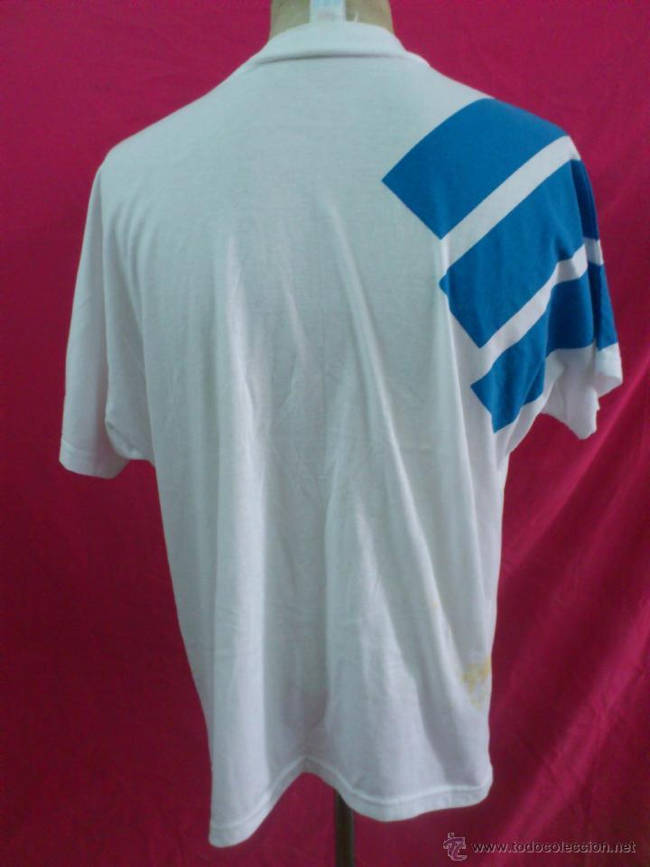 Coleccionismo deportivo: CAMISETA FUTBOL ORIGINAL ADIDAS REAL ZARAGOZA . AÑO 1992. TIPO ALGODÒN. TALLA L - Foto 7 - 44838614