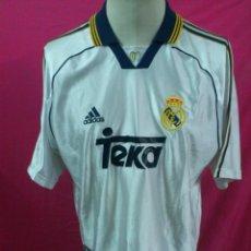 Coleccionismo deportivo: CAMISETA FUTBOL ORIGINAL ADIDAS REAL MADRID TEKA. FINAL COPA EUROPA 2000. TALLA L. Lote 210533787