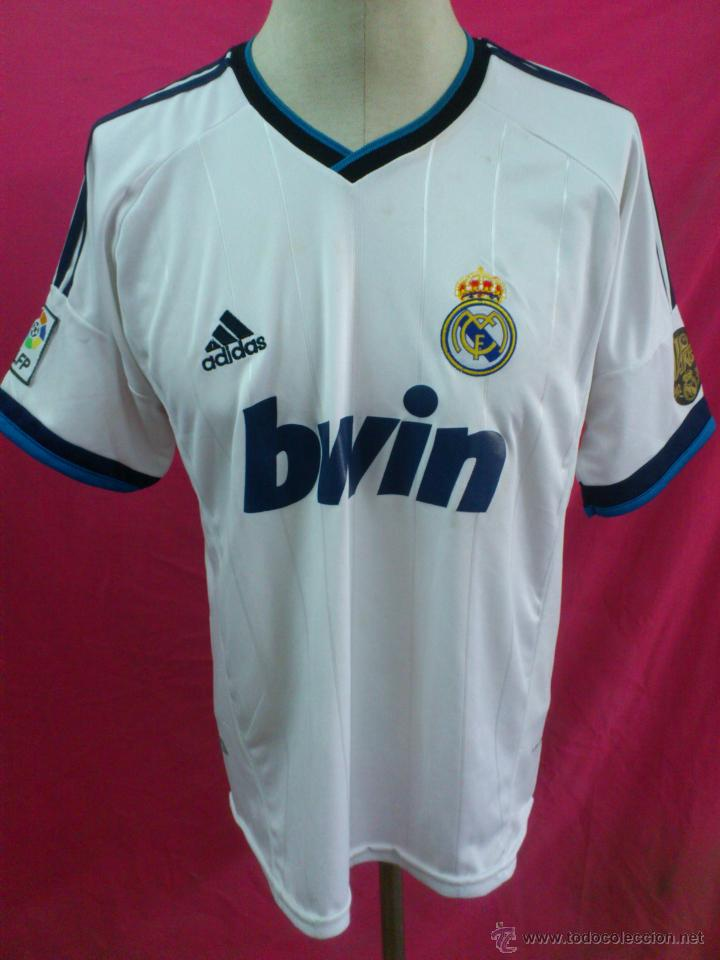 CAMISETA FUTBOL ORIGINAL ADIDAS REAL MADRID BWIN BENZEMA TALLA XXL  (Coleccionismo Deportivo - Ropa y 59a83d39bc87a