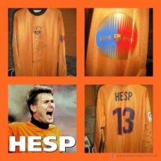 Coleccionismo deportivo: CAMISETA MATCHWORN PORTERO FIRMADA FC BARCELONA CENTENARIO RUUD HESP LIGA SHIRT . Lote 46401162