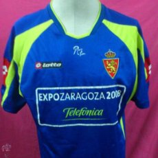 Coleccionismo deportivo: CAMISETA FUTBOL ORIGINAL LOTTO REAL ZARAGOZA EXPO 2008 TELEFONICA TALLA XL. Lote 47310661