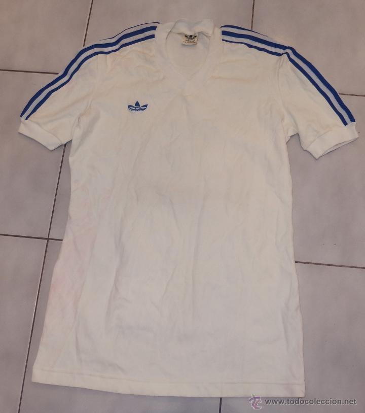 Saludar Precioso Deslumbrante  Camiseta blanca y azul,adidas,años 70,a estrena - Vendido en Venta Directa  - 47846074