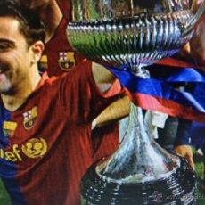 Coleccionismo deportivo: (F-112)CAMISETA XAVI,FINAL COPA DEL REI 2009,MATCH UN WORN,F.C.BARCELONA-AT.BILBAO,FIRMADA. Lote 202342803