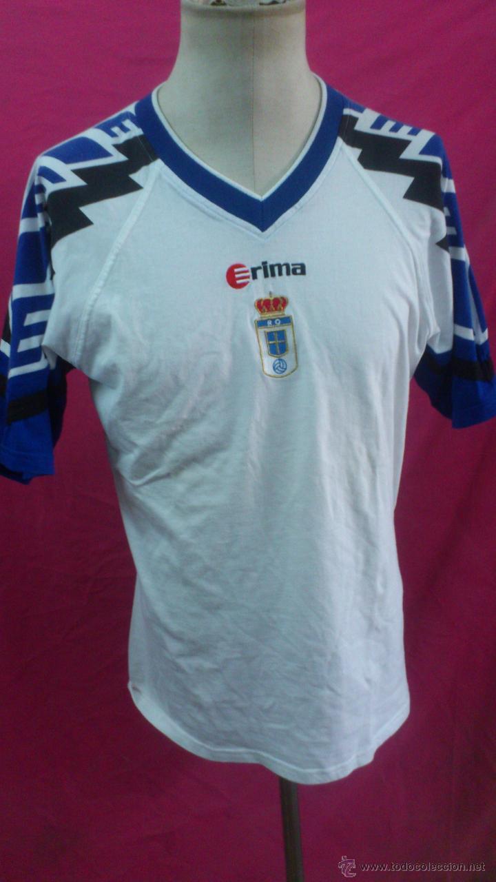 CAMISETA FUTBOL ORIGINAL ERIMA OFICIAL REAL OVIEDO (Coleccionismo Deportivo - Ropa y Complementos - Camisetas de Fútbol)