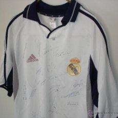Coleccionismo deportivo: REAL MADRID - CAMISETA FIRMADA - VER FOTOS Y FIRMAS . Lote 48934250
