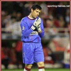Coleccionismo deportivo: (F-0471)CAMISETA DE ANDRES PALOP,SEVILLA C.F.UEFA EUROPA LEAGUE 2007-08,MATCH UN WORN. Lote 49180062