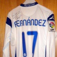 Coleccionismo deportivo: CAMISETA FUTBOL SHIRT MATCH WORN JOSE FERNANDEZ REAL ZARAGOZA PARTIDO JUGADO. Lote 49345208