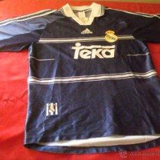 Coleccionismo deportivo: CAMISETA DEL REAL MADRID ADIDAS PUBLICIDAD TEKA AZUL MARINO TALLA S. Lote 52584328