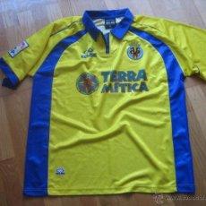 Coleccionismo deportivo: ANTIGUA CAMISETA VILLARREAL MATCH WORN 2000-2001 GERARD ESCODA. Lote 49721097
