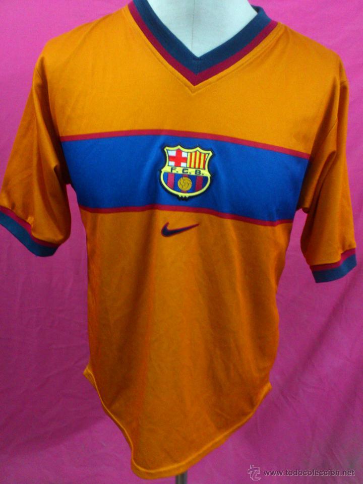 CAMISETA FUTBOL CLUB BARCELONA NARANJA NIKE 1998-00 (Coleccionismo  Deportivo - Ropa y Complementos 3590167ff4bea