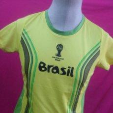 Coleccionismo deportivo: CAMISETA FUTBOL BRASIL 2014 PRODUCTO OFICIAL LICENCIADO FIFA. Lote 49995854