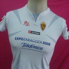 Coleccionismo deportivo: CAMISETA FUTBOL ORIGINAL LOTTO REAL ZARAGOZA EXPO 2008.. Lote 33223860