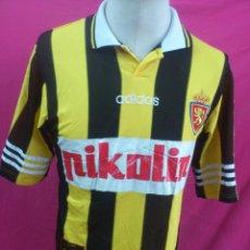 Sports collectibles - CAMISETA FUTBOL ORIGINAL ADIDAS REAL ZARAGOZA PIKOLIN TALLA S - 31943439