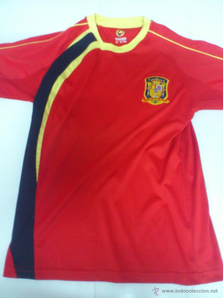 CAMISETA FUTBOL SELECCION ESPAÑOLA ESPAÑA PRODUCTO OFICIAL TALLA 10 (NIÑO) (Coleccionismo Deportivo - Ropa y Complementos - Camisetas de Fútbol)