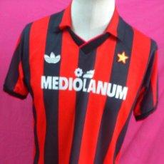 Coleccionismo deportivo: CAMISETA FUTBOL ORIGINAL ADIDAS A.C. MILAN PUBLICIDAD MEDIOLANUM 1988. Lote 50727874