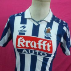 Coleccionismo deportivo: CAMISETA FUTBOL ORIGINAL ASTORE OFICIAL REAL SOCIEDAD . KRAFFT. Lote 33627651