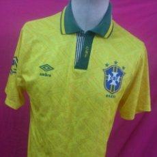 Coleccionismo deportivo: AFJ. CAMISETA FUTBOL ORIGINAL UMBRO SELECCION DE BRASIL AÑOS 90. Lote 26980772