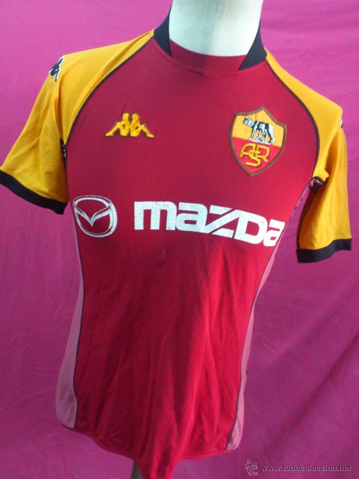 AFJ. CAMISETA FUTBOL ORIGINAL KAPPA. OFICIAL. A.S. ROMA (Coleccionismo Deportivo - Ropa y Complementos - Camisetas de Fútbol)
