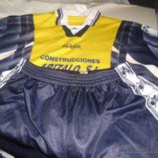 Coleccionismo deportivo: EQUIPACION DE FUTBOL CAMISETA Y PANTALON EQUIPO LOCAL AMARILLA Y PANTALON AZUL CEJUDO 6. Lote 51110549