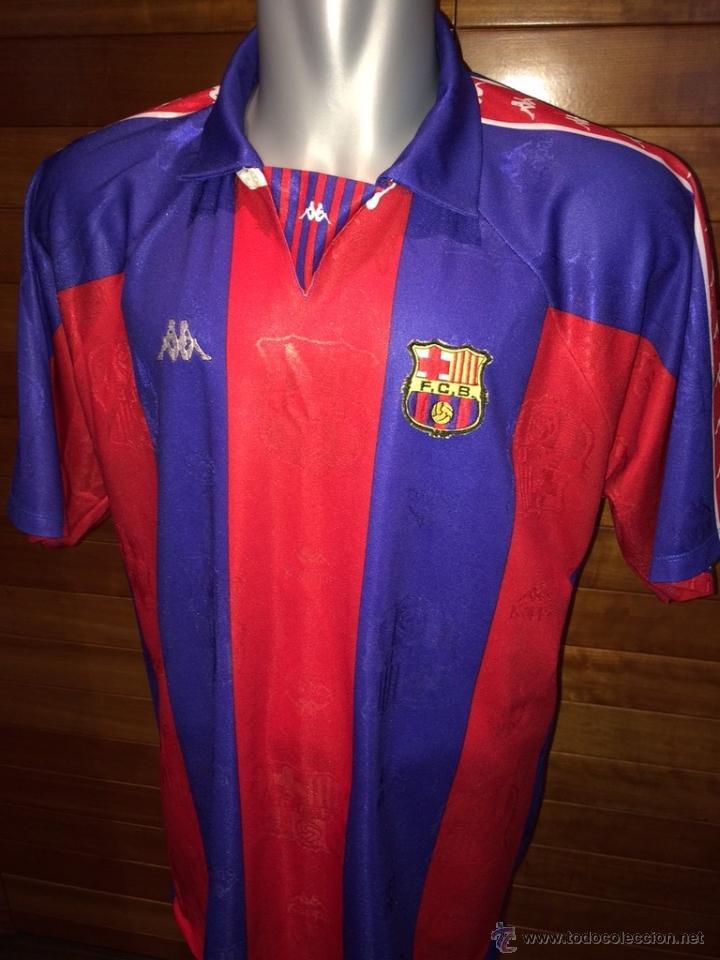 CAMISETA FC BARCELONA 1993 94 KAPPA CHAMPIONS LEAGUE FINAL MILAN vs BARÇA 7e56457e1cdcc