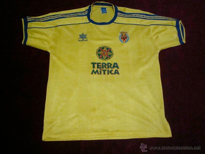 VILLARREAL CAMISETA ORIGINAL LUANVI TALLA M (Coleccionismo Deportivo - Ropa  y Complementos - Camisetas de cd38826454a77