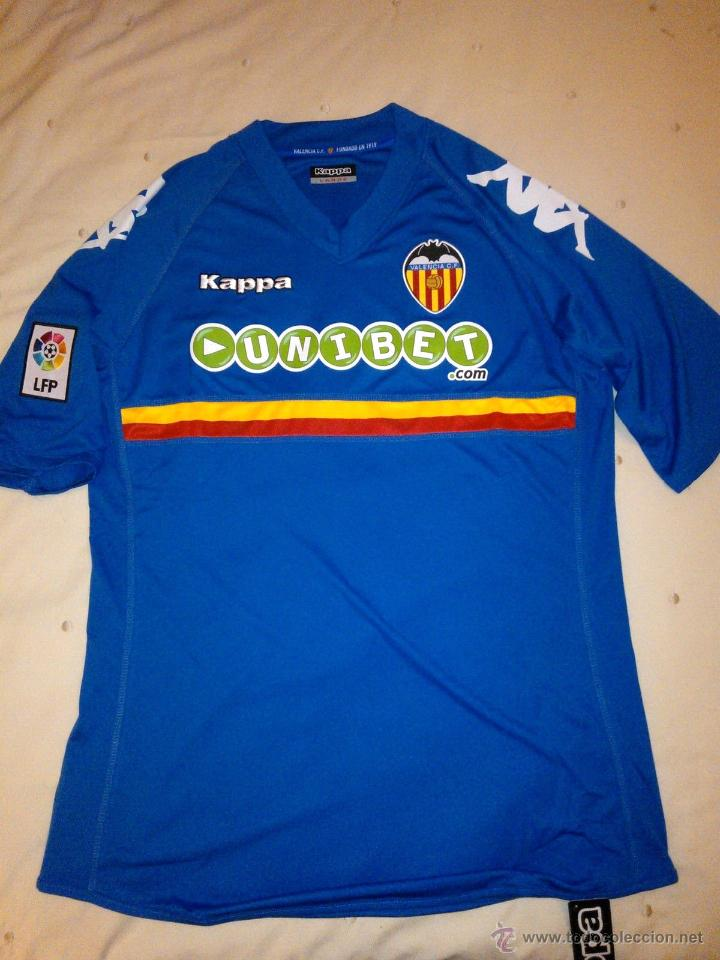 Camiseta oficial Valencia CF Segunda equipacion Temporada 2010-2011. Kappa.  Talla L. 1be8950893fb0