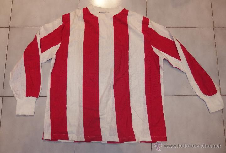 CAMISETA AT.MADRID,AT.BILBAO,SPORTING GIJON,ALMERÍA,FUTBOL,100% COTTON,AÑOS 60,A ESTRENAR (Coleccionismo Deportivo - Ropa y Complementos - Camisetas de Fútbol)