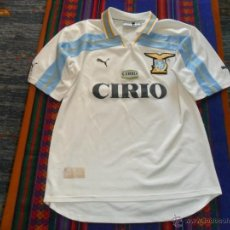 Coleccionismo deportivo: CAMISETA S.S. LAZIO DEL CENTENARIO 1900 2000 MARCA PUMA TALLA M. PUBLICIDAD CIRIO. SIMONE INZAGHI.. Lote 53103756