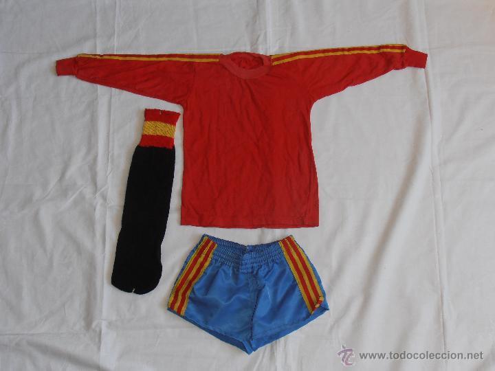 EQUIPACION NIÑO FUTBOL ESPAÑA 82 (Coleccionismo Deportivo - Ropa y Complementos - Camisetas de Fútbol)
