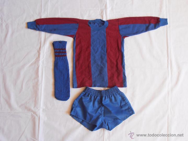 EQUIPACION NIÑO FUTBOL BARCELONA AÑOS 80 BARCA (Coleccionismo Deportivo - Ropa y Complementos - Camisetas de Fútbol)
